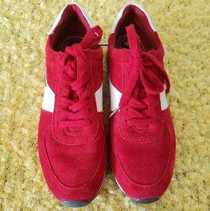 Michael Kors Red Suede Allie Sneakers